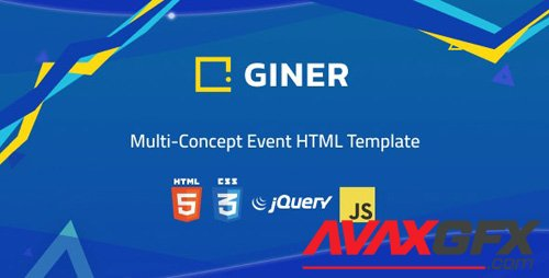 ThemeForest - Giner v1.0 - Multi-Concept Event HTML Template - 24631142