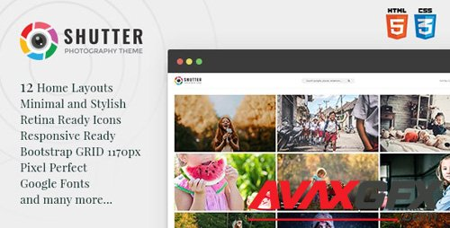 ThemeForest - Shutter v1.0 - Photography HTML5 Template - 23718802