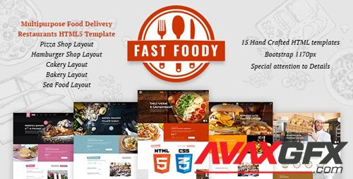 ThemeForest - Fast Foody v1.0 - Multipurpose Restaurants HTML5 Template - 24142664