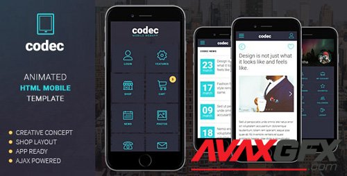 ThemeForest - Codec v1.0 - Mobile HTML Template (Update: 11 April 18) - 13586802
