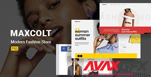 Maxcolt – Modern Fashion Store PSD Template 23706788