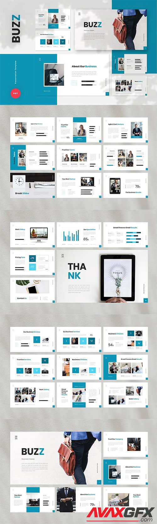 Buzz - Business PowerPoint, Keynote, Google Slides Templates