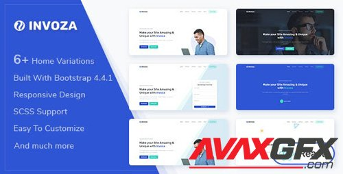 ThemeForest - Invoza v1.0.0 - React Landing Page Template - 27287695