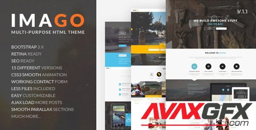 ThemeForest - Imago v1.1 - Multipurpose HTML5 Template - 10821364