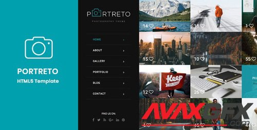 ThemeForest - Portreto v1.0 - Photography & Portfolio HTML5 Template - 20903842