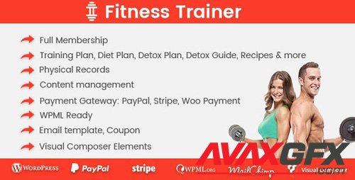 CodeCanyon - Fitness Trainer v1.4.8 - Training Membership Plugin - 19901278