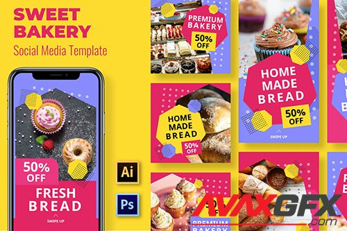 Bakery Social Media Template