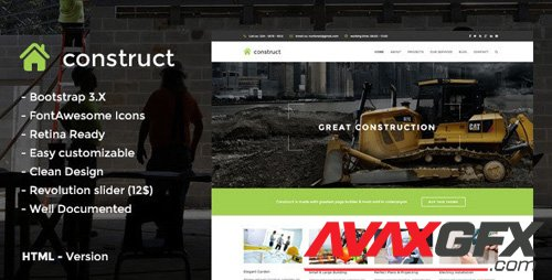 ThemeForest - Construct v1.0 - HTML5 Construction & Business Template - 12450997