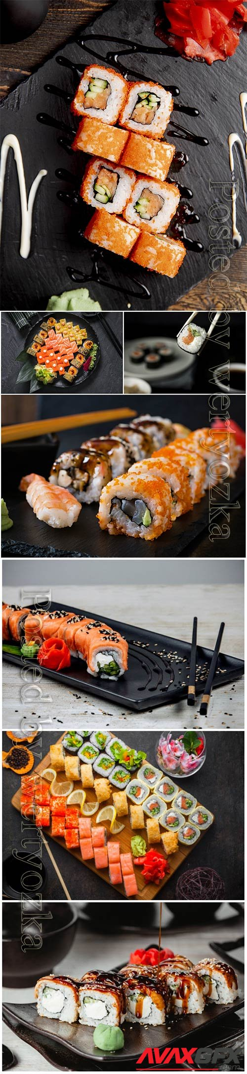 Delicious beautiful sushi