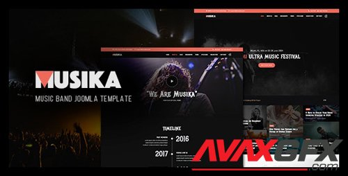 ThemeForest - Musika v2.0.0 - Music Festival & Band Joomla Template - 17731775