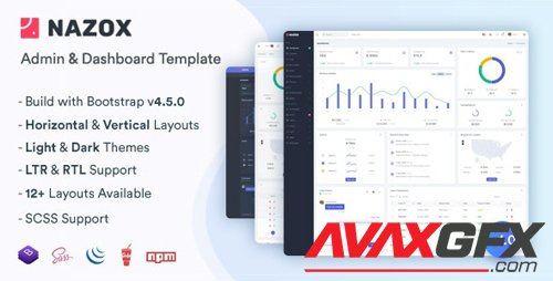ThemeForest - Nazox v1.0 - Admin & Dashboard Template - 26819788