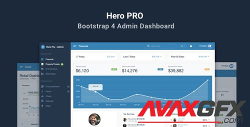 ThemeForest - Hero PRO v1.1.0 - Bootstrap 4 Admin Dashboard Theme - 21525206