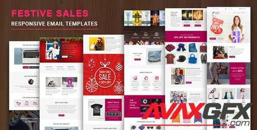 ThemeForest - Festive Sales v1.0 - Responsive Email Template with Online StampReady & Mailchimp Editors - 23019787