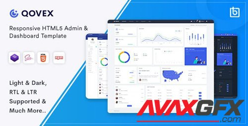 ThemeForest - Qovex v1.0.0 - Admin & Dashboard Template - 26352051
