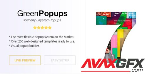CodeCanyon - Popup Plugin for WordPress - Green Popups (formerly Layered Popups) v7.05 - 5978263