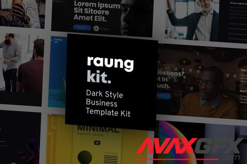 ThemeForest - Raung v1.0 - Dark Style Business Template Kit - 27590901