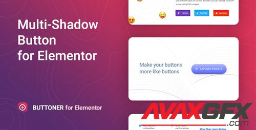 CodeCanyon - Buttoner v1.0.0 - Multi-shadow Button for Elementor - 27596105