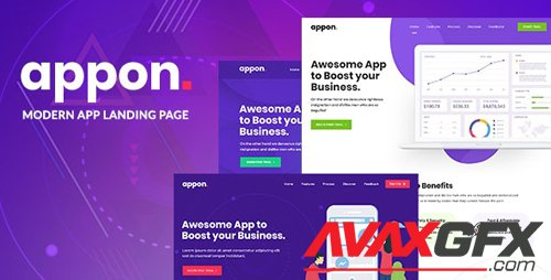 ThemeForest - Appon v1.1.2 - App & SaaS Software Theme - 23158103