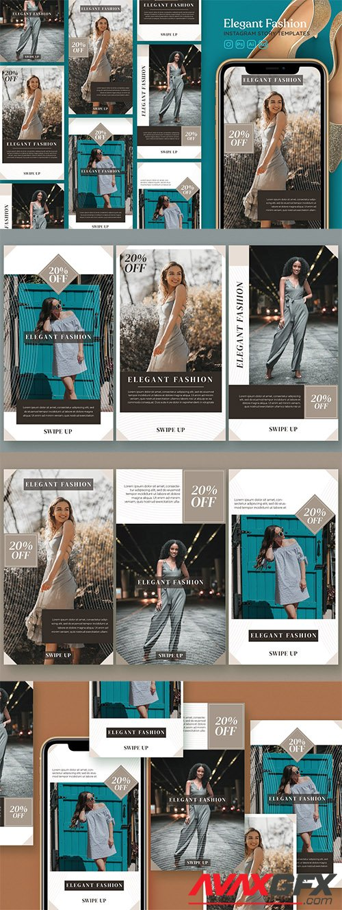 Instagram Story Template Vol.23 Elegant Fashion