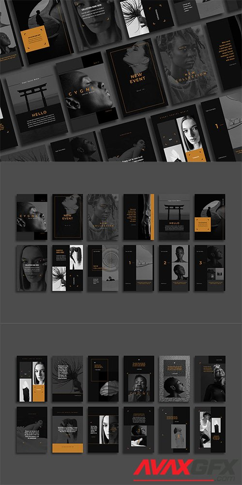 Cygni Pinterest Templates