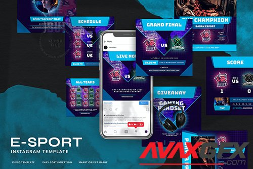 eSport & Gaming Instagram Template V.08