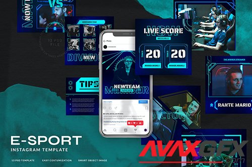 eSport & Gaming Instagram Template V.06