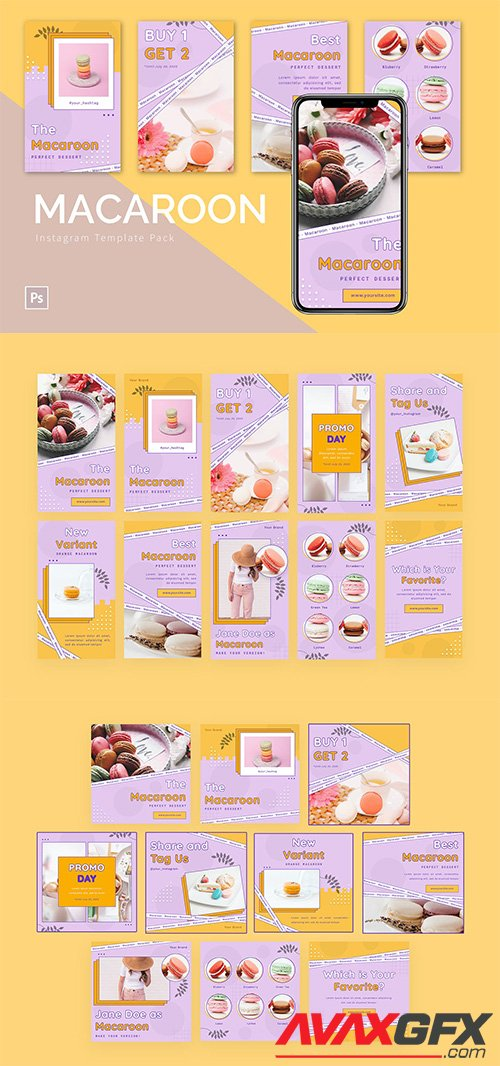 Macaroon - Instagram Template Pack