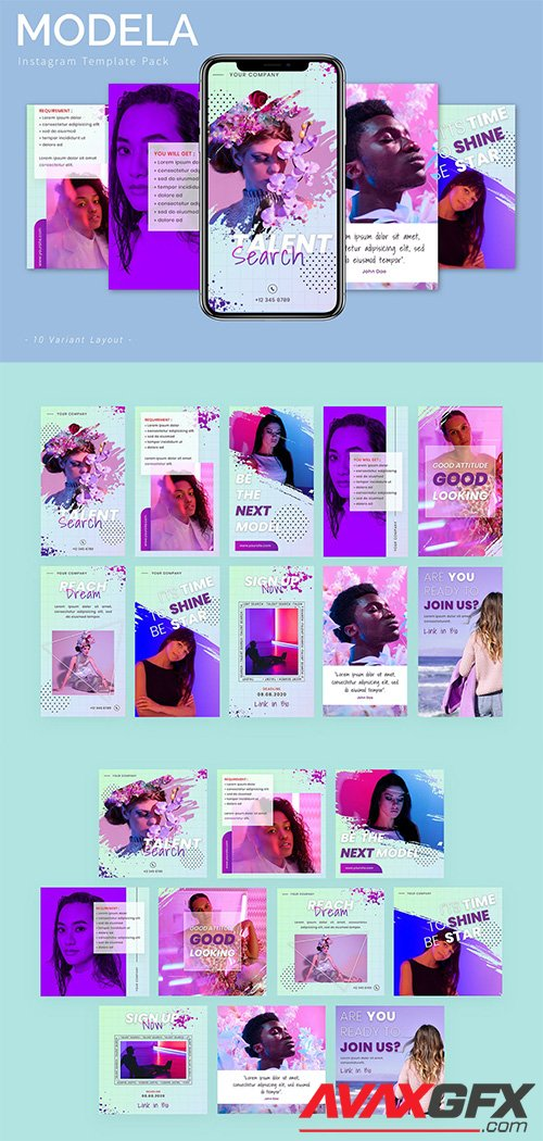 Modela - Instagram Template Pack
