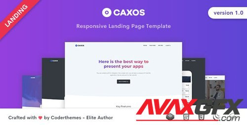 ThemeForest - Caxos v1.0 - Landing Page Template - 27606448