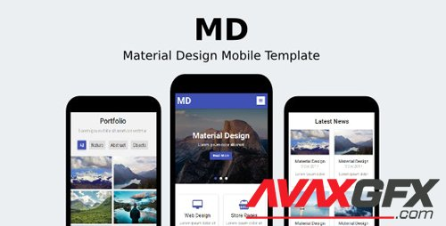 ThemeForest - MD v1.0 - Material Design Mobile Template - 19298643