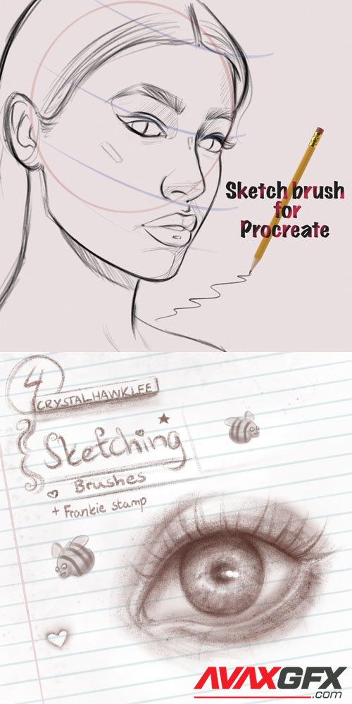 Sketching Brushes for Procreate