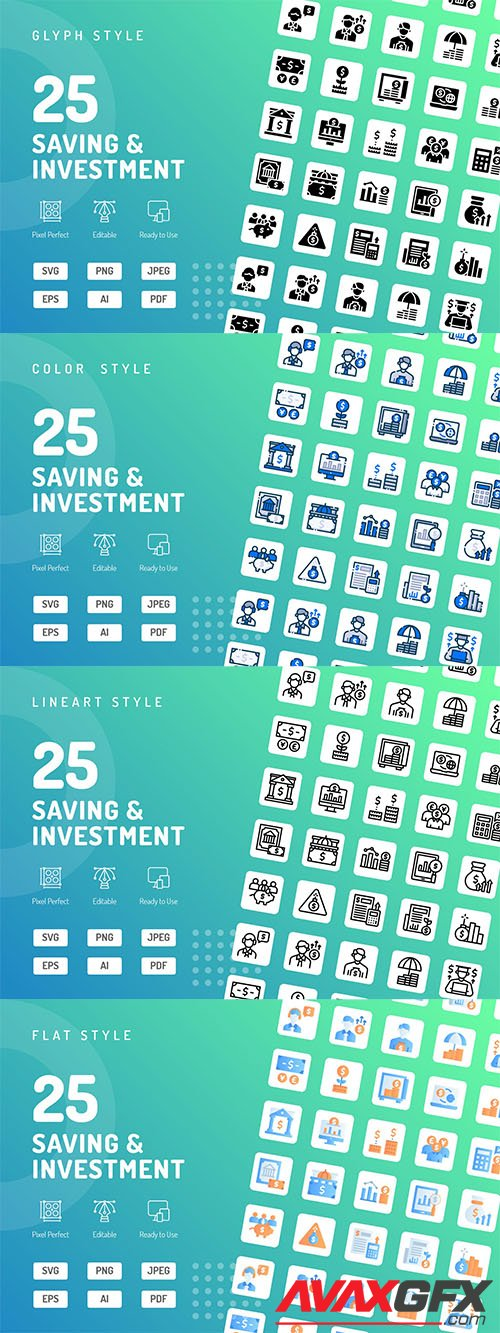 Saving & Investment Icons