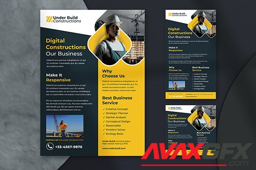 Construction Business Flyer - Instagram Post