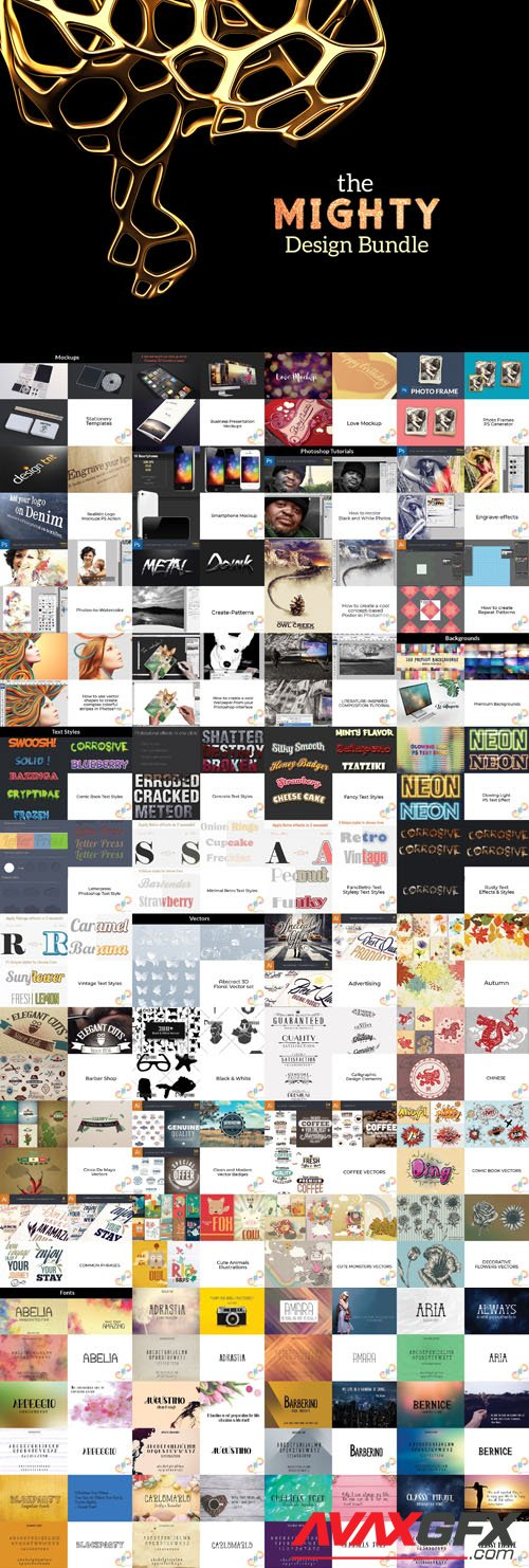 The Mighty Design Bundle : 4900+ Incredible Design Resources