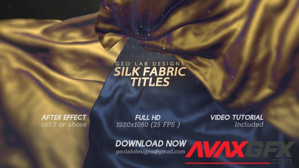 VideoHive - Silk Fabric Titles l Smooth Cloth Titles l Clothes Animation Opener 28399651