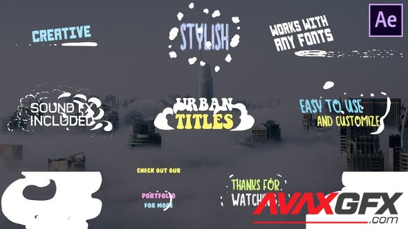 VideoHive - Cartoon Urban Titles | After Effects 28430288