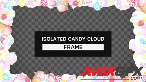 Isolated Cute Candy Cloud Frame 28466218
