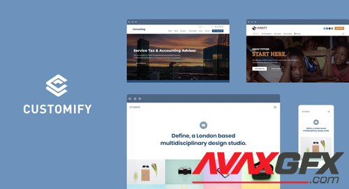 Customify v0.3.5 - WordPress Theme + Customify Pro Addon v0.1.2