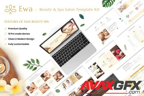 ThemeForest - Ewa v1.0 - Beauty & Spa Salon Elementor Template Kit - 28430655