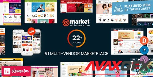 ThemeForest - eMarket v3.2.4 - Multi Vendor MarketPlace Elementor WordPress Theme (22+ Homepages & 3 Mobile Layouts) - 20492674 - NULLED