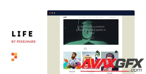 ThemeForest - Life v1.1.3 - Boxed Portfolio WordPress Theme - 20224971
