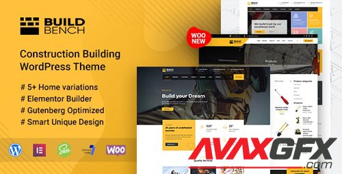 ThemeForest - Construction Building WordPress Theme - Buildbench v1.8 - 23577469