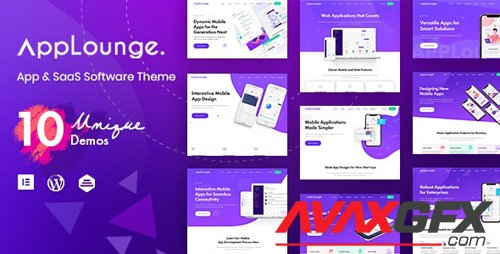 ThemeForest - AppLounge v1.1.1 - Multipurpose SaaS WordPress Theme - 24264575