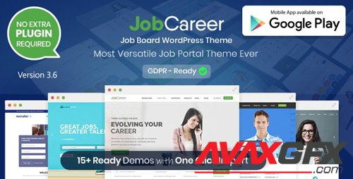 ThemeForest - JobCareer v3.6 - Job Board Responsive WordPress Theme - 14221636 - NULLED