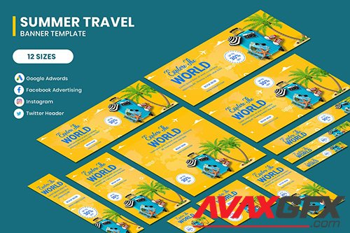 Traving World Banner Template
