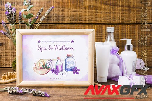 Spa and wellness frame mock-up