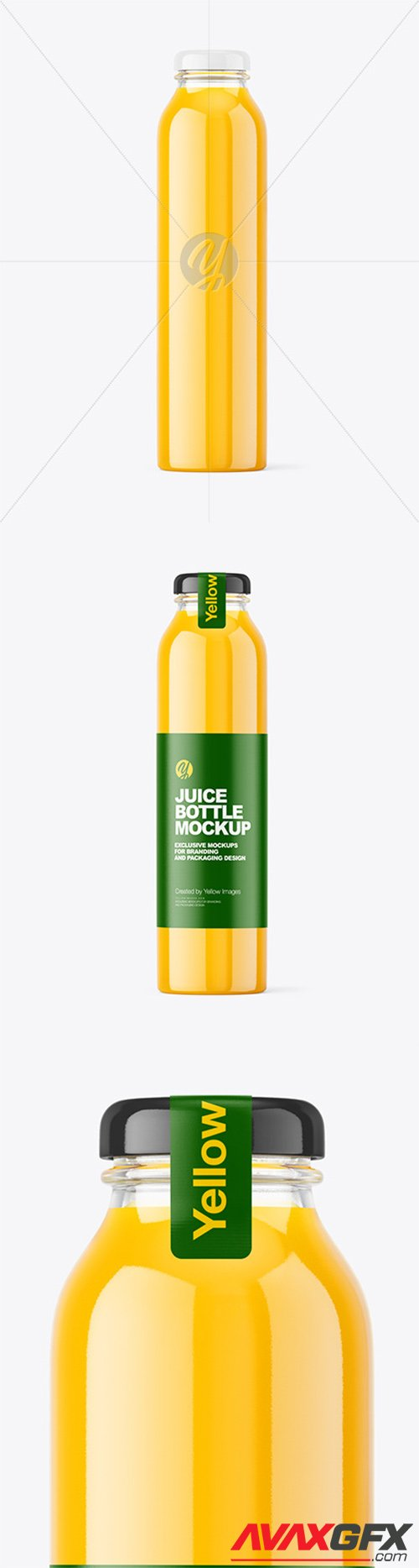 Orange Juice Bottle Mockup 65678
