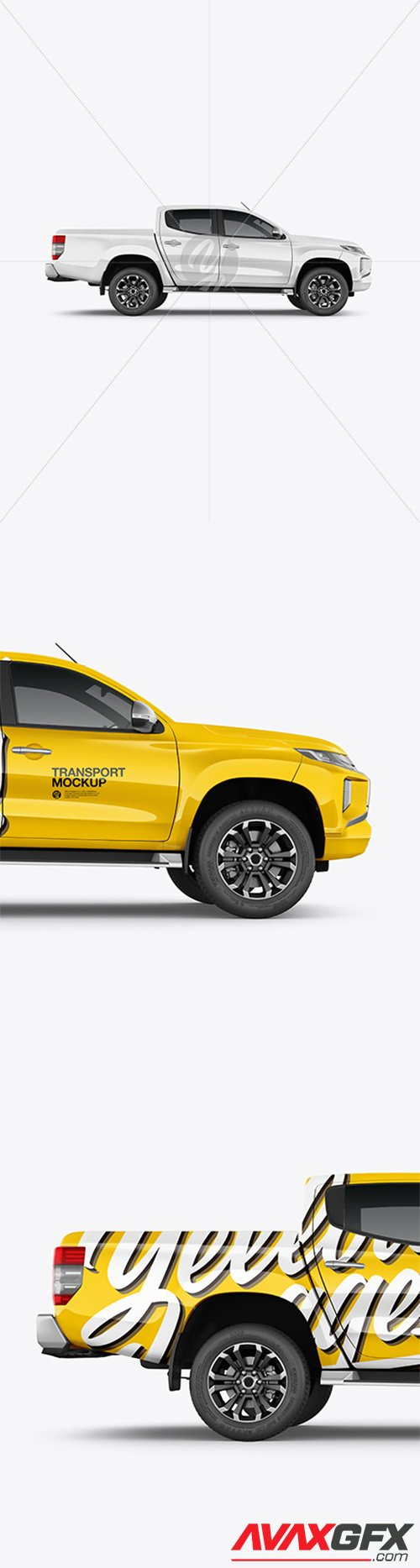 Pickup Truck Mockup - Side View 65684