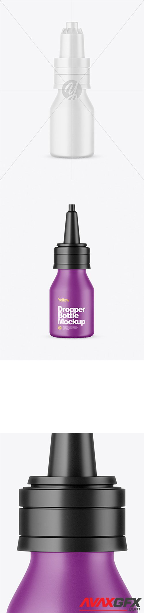 Matte Dropper Bottle Mockup 65609
