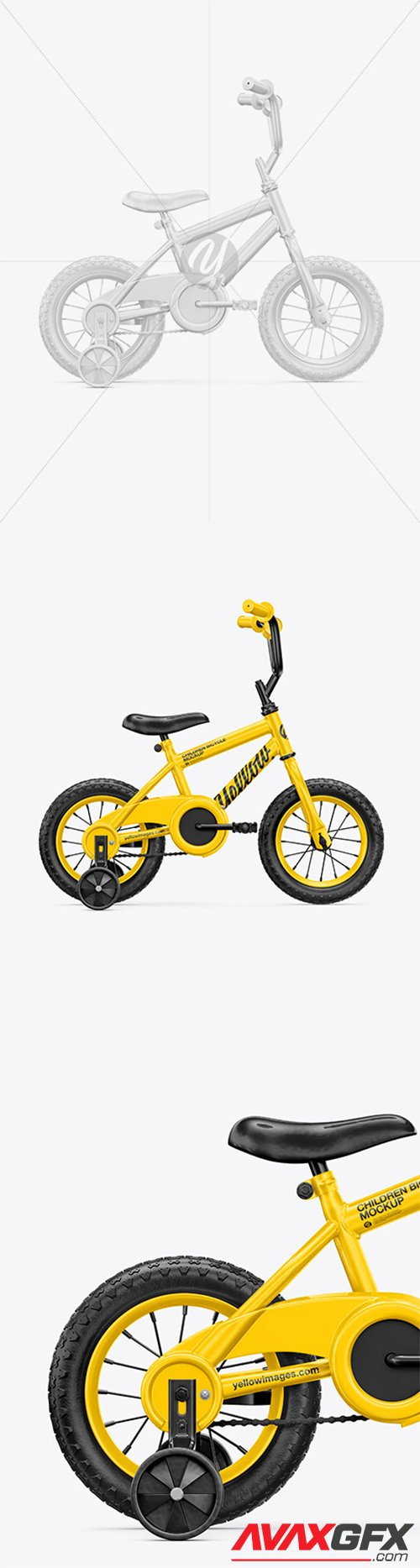 Children Bike Mockup - Right Side View 65588
